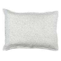 Taie d'oreiller en lin Pyjama - Noir/Blanc