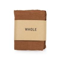 Serviette tissée en coton et lin WOTI - Brun