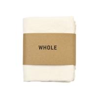 Serviette tissée en coton et lin WOTI - Ecru