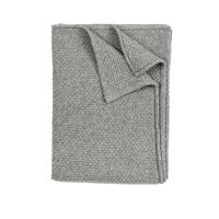 Plaid bébé tricoté - Gris