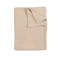 Plaid bébé tricoté - Sable