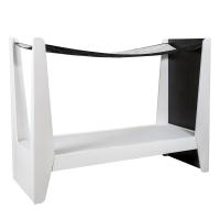 Lit baldaquin Ketara - Noir / Blanc
