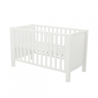 Lit b b joy 60 x 120 blanc quax pour chambre enfant for Lit enfant quax