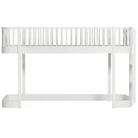 Lit mezzanine bas Wood - Blanc