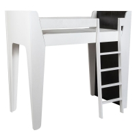 Lit mezzanine Ketara - Noir / Blanc