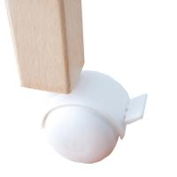 Sachet de 4 roulettes pour lit bébé Rémi - Blanc