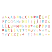 Set de lettres Funky Colour - Multicolore