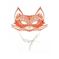 Masque enfants My Orange Fox - Orange/Blanc