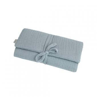 matelas langer de voyage en gaze de coton bleu clair num ro 74 pour chambre enfant les. Black Bedroom Furniture Sets. Home Design Ideas