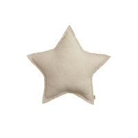 Mini coussin Etoile Tulle/Paillettes - Ecru