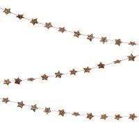 Mini guirlande d'étoiles dorées - Or