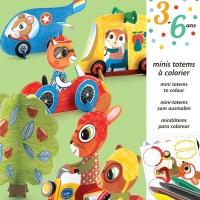Mini Totems à colorier - Vroum Vroum
