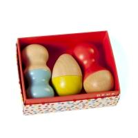 Hochet mini maracas coffret trio - Jaune