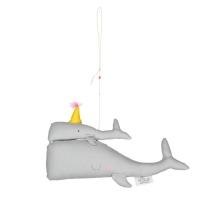 Mobile décoratif Calypso les Baleines maman et bébé - Gris clair