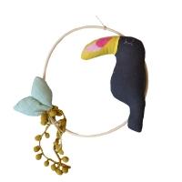 Oiseau décoratif Charlie Baby le bébé Toucan - Carbone