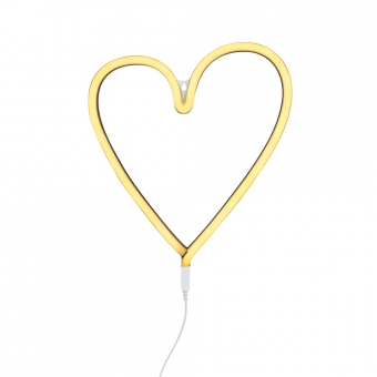 lampe murale n on coeur jaune a little lovely company pour chambre enfant les enfants du design. Black Bedroom Furniture Sets. Home Design Ideas