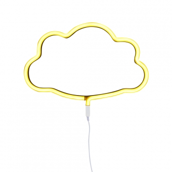 Lampe murale n on nuage jaune a little lovely company for Decoration murale neon