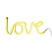 Lampe murale néon Love - Jaune