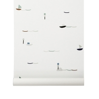 Papier peint Seaside - Blanc