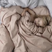 Parure de lit tachetée - Rose poudré