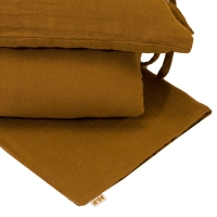 Parure de lit en gaze de coton - Curry