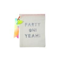 4 petits sacs en tissu Party On - Ecru