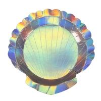 8 petites assiettes Coquillages - Multicolore