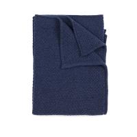 Plaid bébé tricoté - Bleu nuit