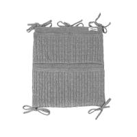 Pochette de rangement en tricot - Gris