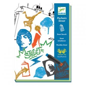 pochoirs street art djeco pour chambre enfant les enfants du design. Black Bedroom Furniture Sets. Home Design Ideas