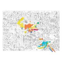 Pyramides - Poster à colorier 80 x 115 cm