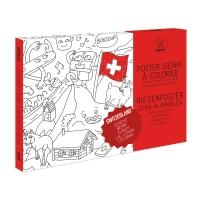 Suisse - Poster à colorier 80 x 115 cm