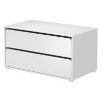 Rangement 2 tiroirs - Blanc