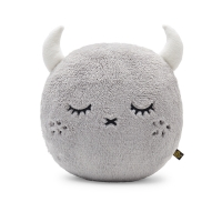 Coussin rond Ricepuffy - Gris