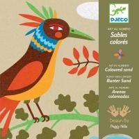 Atelier Sables colorés - Oiseaux de paradis