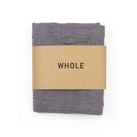 Serviette tissée en coton et lin WOTI - Gris