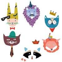 Sticker Animal Party