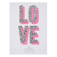 Sticker LOVE pailletés