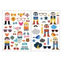 2 planches de Stickers Filles et Garçons