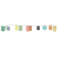 Sticker Frise Lampions - Multicolore