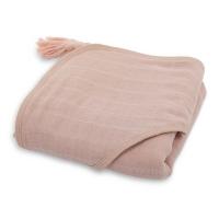 SYBEL cape de bain en mousseline - Rose pastel