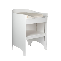 Commode à langer évolutive Leander transformable en bureau - Blanc satiné