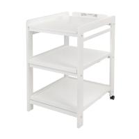 Table à langer Comfort avec roues - Blanc