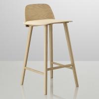 Chaise de Bar NERD - Chêne