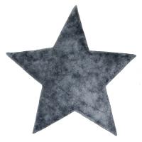 Tapis Etoile poils courts - Anthracite