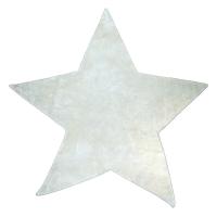 Tapis Etoile poils courts - Blanc