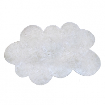tapis nuage poils courts blanc pilepoil pour chambre. Black Bedroom Furniture Sets. Home Design Ideas