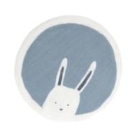 Tapis Pasu Bunny en feutre 120 cm - Bleu hiver