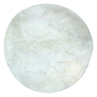 Tapis Rond poils courts - Blanc
