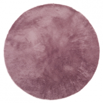 Tapis Rond - Mauve grisé